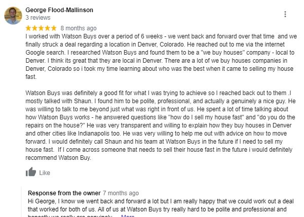 Local Cash Home buyer review