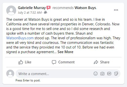 facebook business review - Sell my house fast colorado