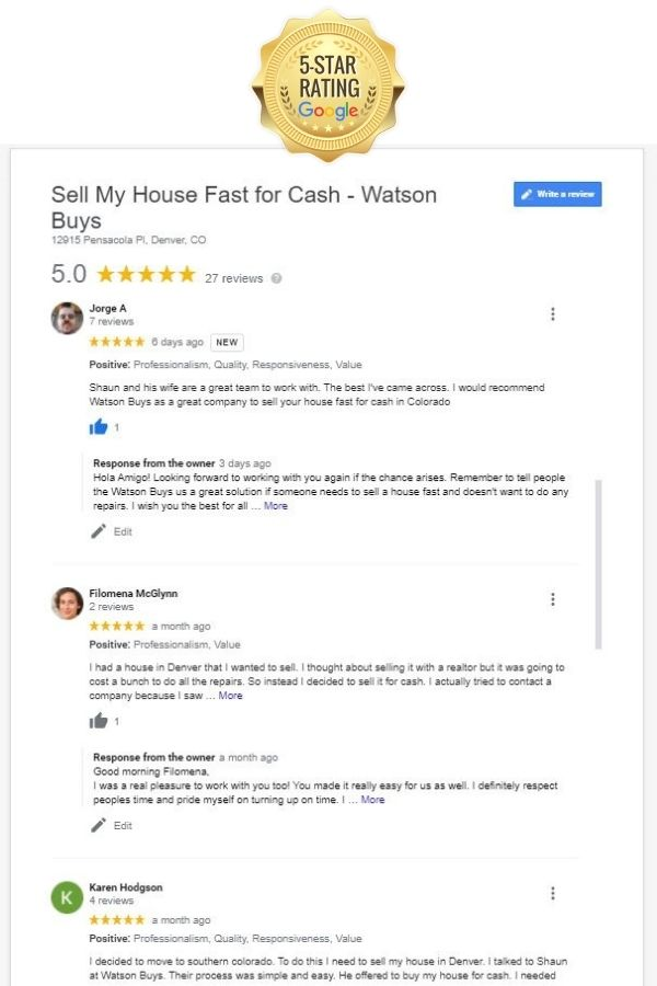 google business review - Sell my house fast colorado